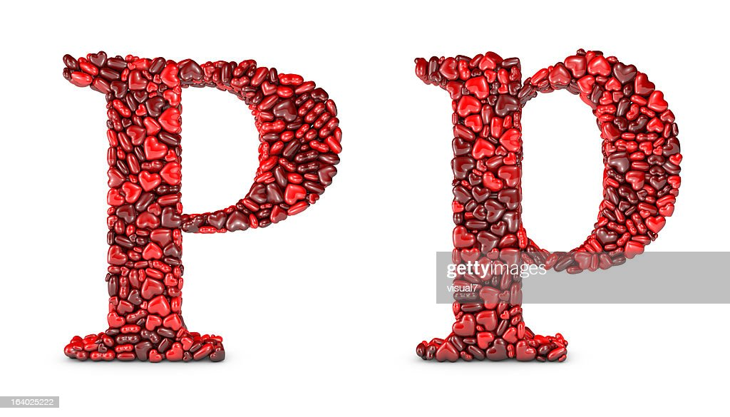 Heart Letter P : Stock Photo  P&l Sheet