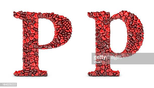 heart letter p - letter p stock pictures, royalty-free photos & images