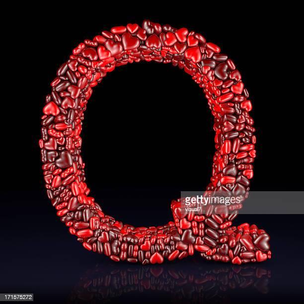 Heart Letter Q