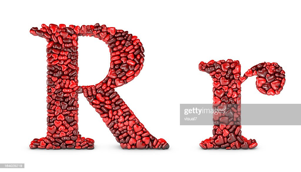 Heart Letter R Stock Photo