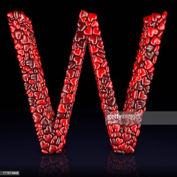 coração letra w - letra w - fotografias e filmes do acervo
