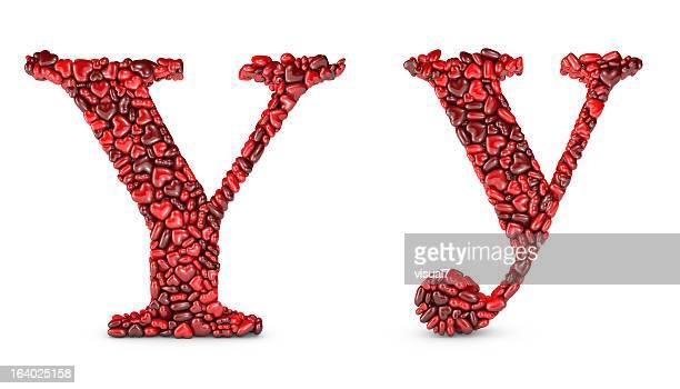 Herz Buchstabe Y
