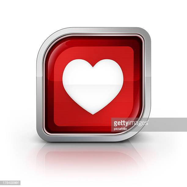 heart love glossy icon