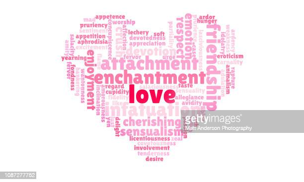 heart love word cloud - dessin erotique photos et images de collection