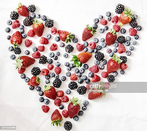 A heart made of fresh berries