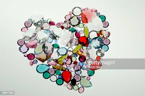 Heart made of glass stones