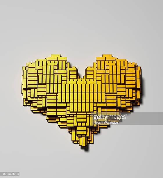 Heart made of  gold bars