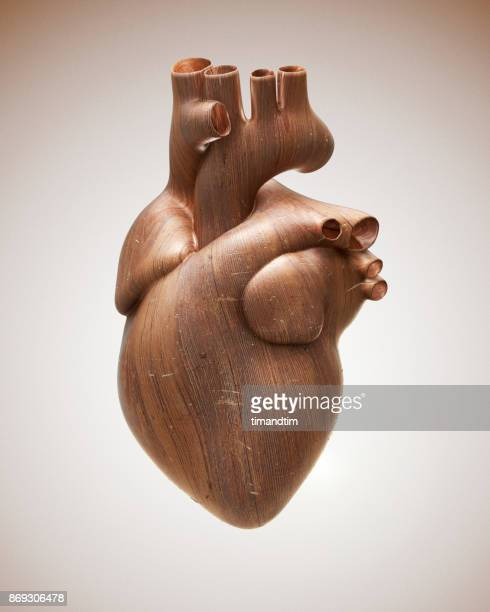 Heart made of wood