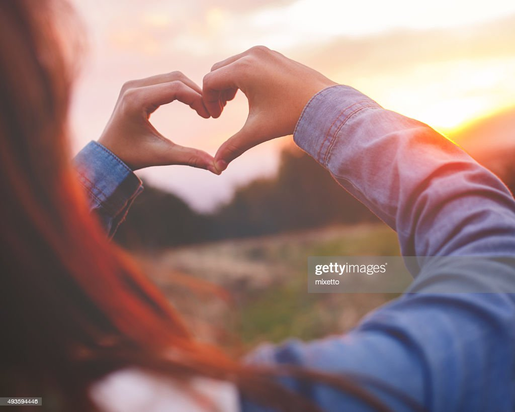 Heart made with hands : Stock Photo