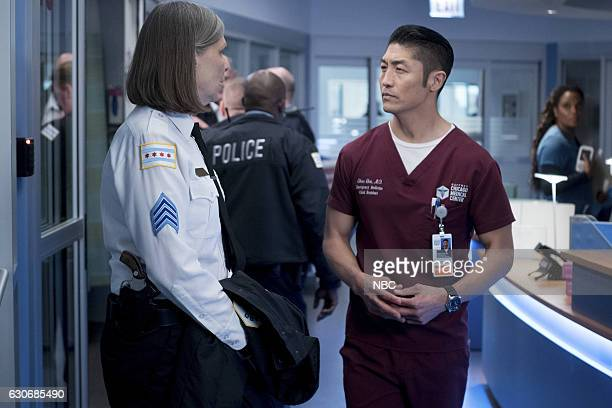 MED Heart Matters Episode 210 Pictured Amy Morton as Trudy Platt Brian Tee as Ethan Choi