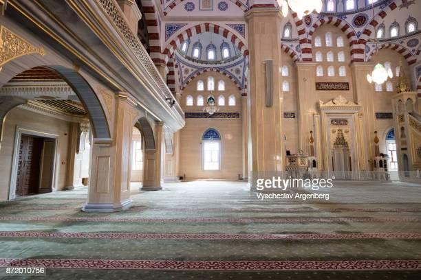 Heart of Chechnya (Akhmad Kadyrov) mosque interiors, Grozny