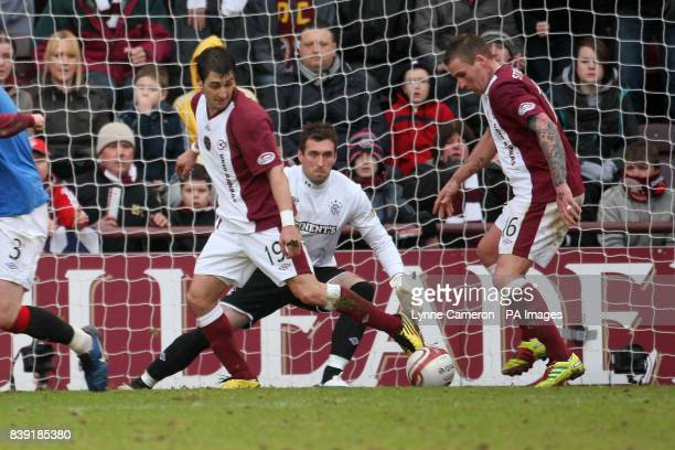 Heart of Midlothian's Ryan Stevenson scores the winning goal