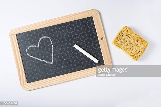 Heart on slate