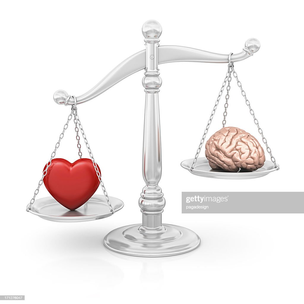 heart or brain : Stock Photo