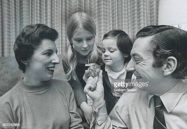 A heart pacemaker like this is what keeps Robert Young alive and he explains the working of it to his wife Anne and daughters Stephanie 10 and Karen...