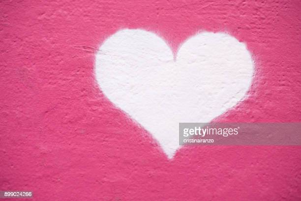 Heart painted on the wall