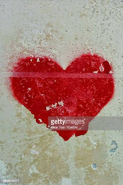Heart Painted On Wall