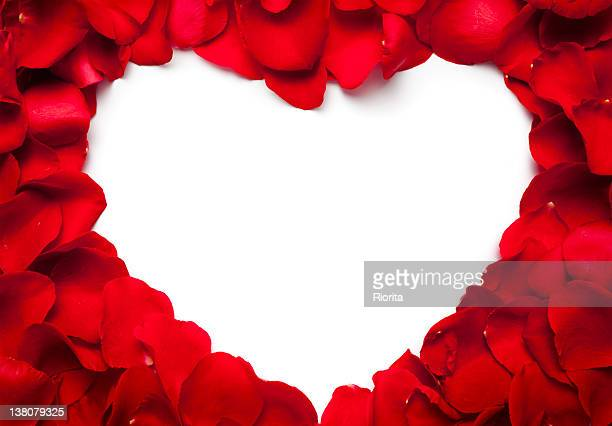 heart - red roses stock pictures, royalty-free photos & images