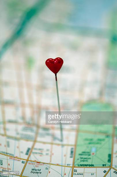 Heart Pin in Map