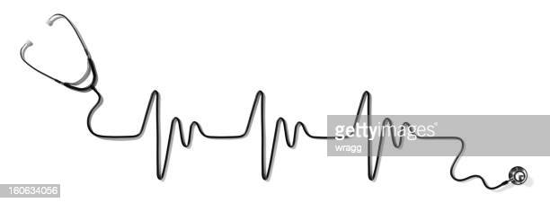 Heart Pulse and Stethoscope