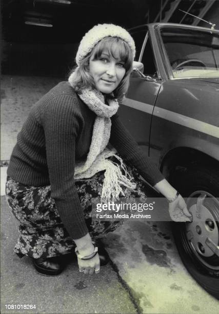 Heart Quest Entrant Miss Lorayne Dudding with her renault car at her job in RoseberySydney career girl Lorayne Dudding hopes she can touch the hearts...