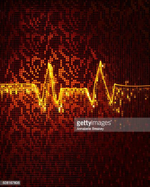 EKG Heart Rate Conceptual Still Life
