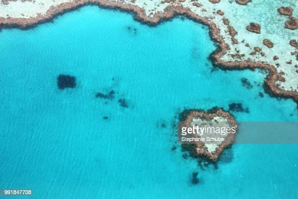 heart reef australia - great barrier reef aerial stock pictures, royalty-free photos & images