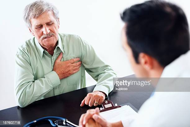 Heart related issues- Old man at a routine medical checkup