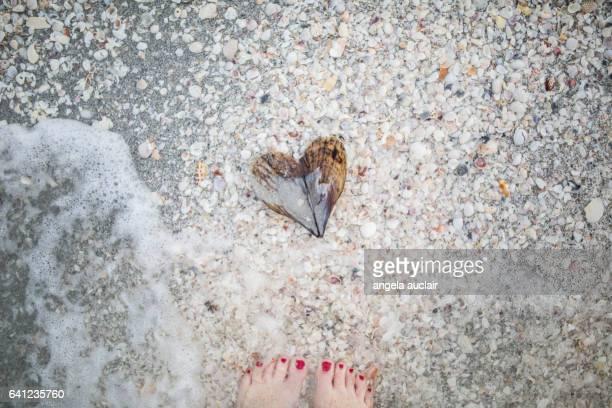 I heart ( love ) Sanibel, Florida beaches