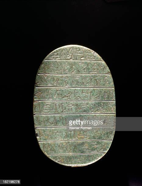 Heart scarab inscribed for Hat with a text from chapter 30 of the Book of the Dead Heart scarabs were wrapped in the mummy bandages to ensure that...