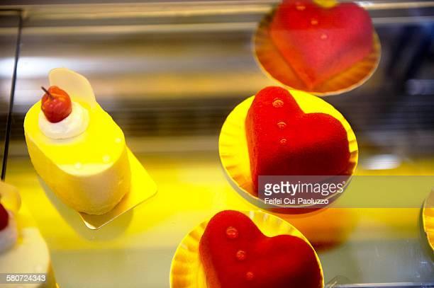 Heart shape cake at Zhengzhou City Henan Provnce