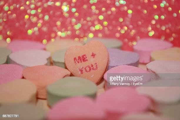 Heart Shape Candy With Text