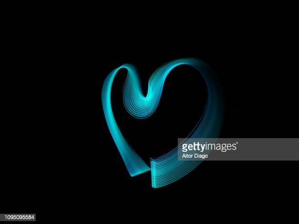 heart shape. conceptual nature. - stereoscopic images stock photos and pictures
