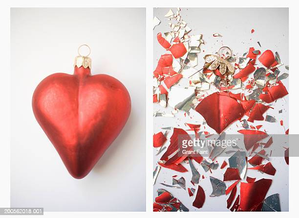 Heart shape decoration broken, Digital Composite