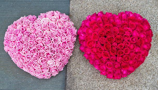 Heart shape flower arrangement