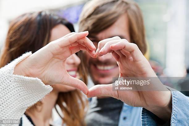 Herzform von paar Hände, Istanbul