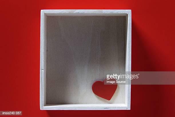 Heart shape in empty box