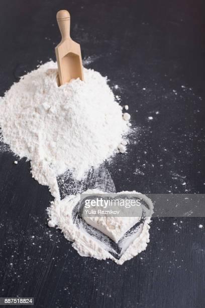 Heart Shape in Flour