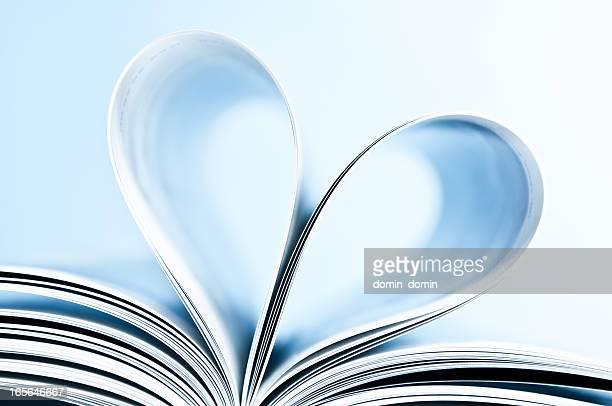 Heart shape inside book