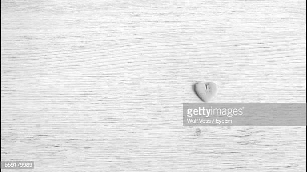 Heart Shape On Wooden Surface