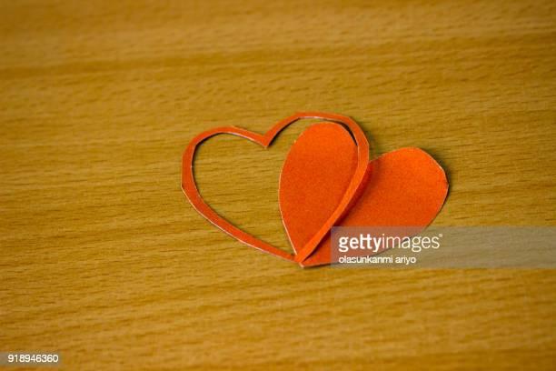 Heart shape paper cut