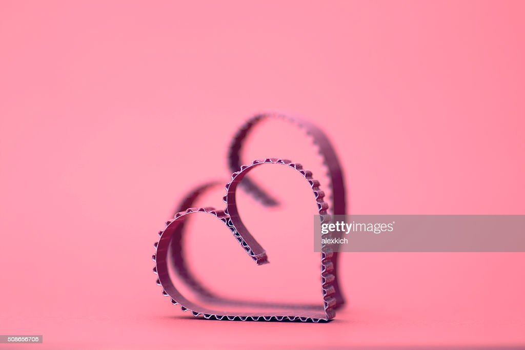 heart shape paper red : Stock Photo