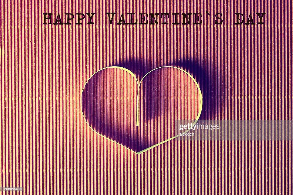 heart shape text happy : Stock Photo