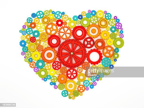 Heart shape with cogs
