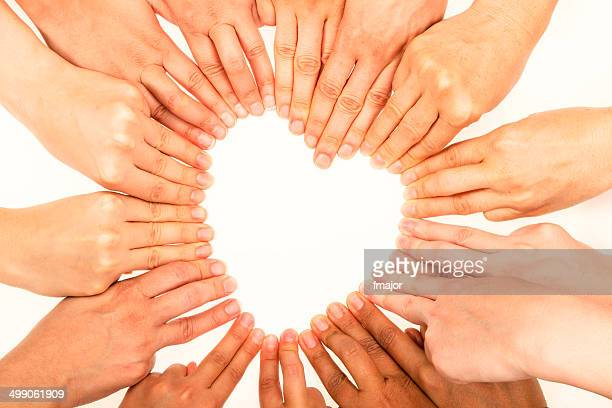 heart shape with human fingers - human heart stock pictures, royalty-free photos & images