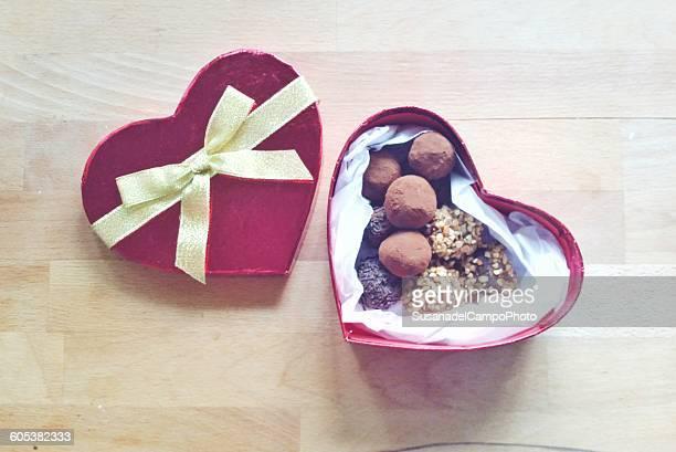 Heart shaped box of Chocolate truffles