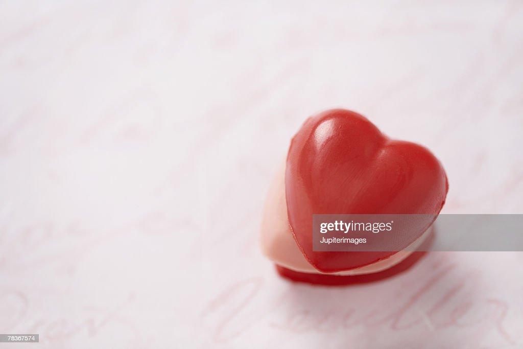 Heart shaped candy : Stock Photo
