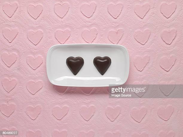 Herzförmige Pralinen