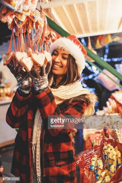 Herzförmige Weihnachten Lutscher