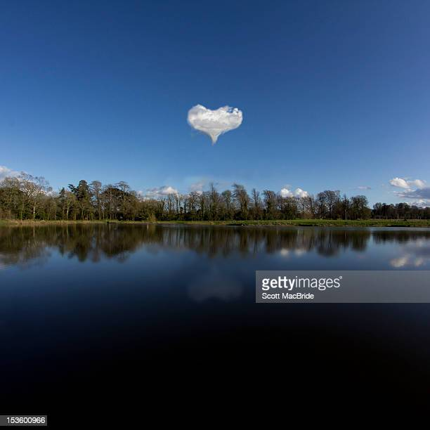 heart shaped cloud - scott macbride stock pictures, royalty-free photos & images